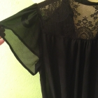 Seksowna mgiełka sukienka koronka Forever 21
