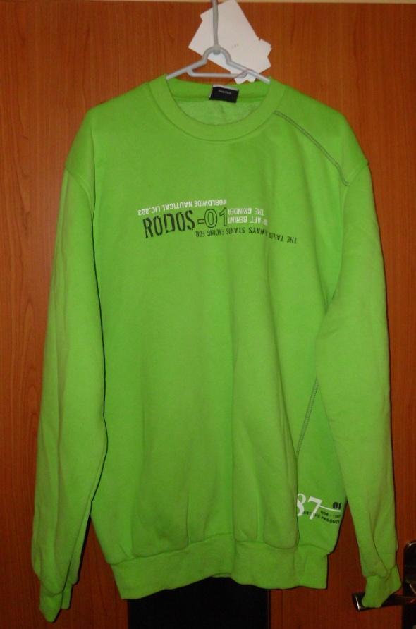 Nowa zielona ciapła bluza męska