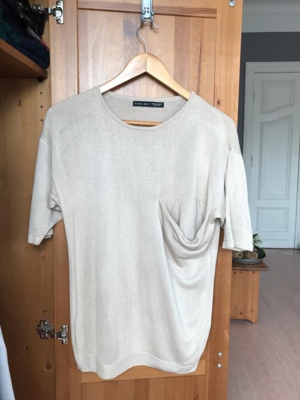 Beżowy męski sweter Zara man M