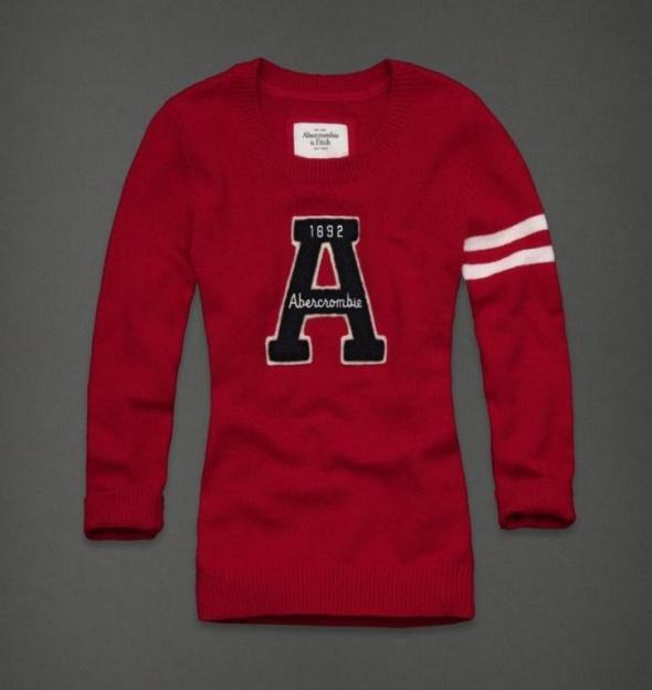 ABERCROMBIE&FITCH sweter Deidra czerwony M...