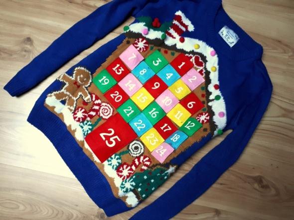 świąteczny sweter kalendarz XS S...