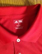 Czerwona koszulka polo Adidas M L...