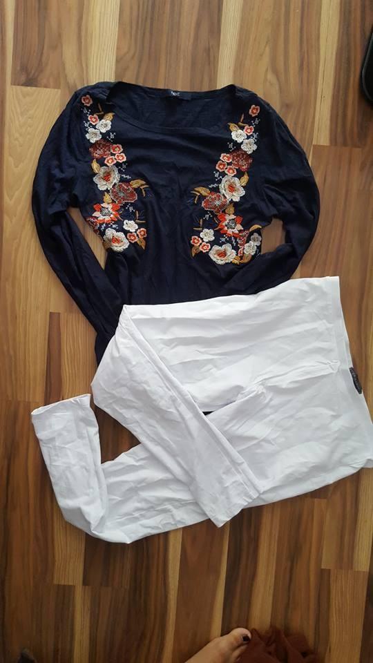 zestaw legginsy bluzka L...