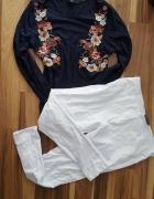 zestaw legginsy bluzka L