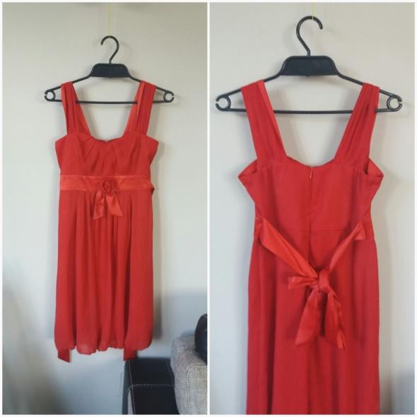 Sukienka czerwona zwiewna nowa rozmiar XS