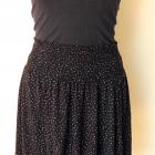 czarna rozkloszowana spódnica H&M