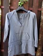 szara bluza tunika z kieszeniami kangurka Evie 42 44...