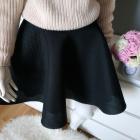 Czarna rozkloszowana spódnica piankowa By o La La