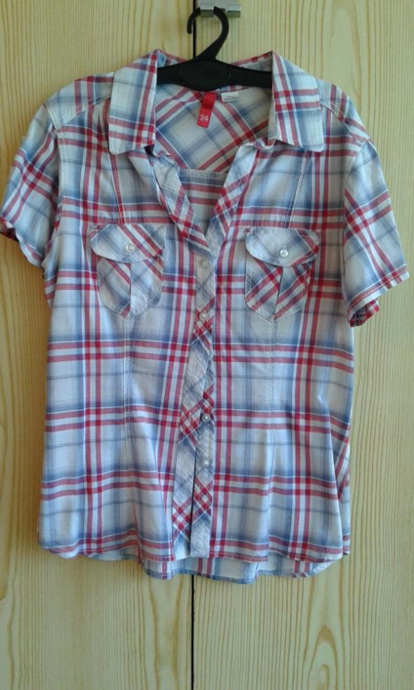 Czerwono niebieska koszula w kratę H&M XS 34...