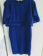 Asos maternity nursing sukienka kobaltowa...