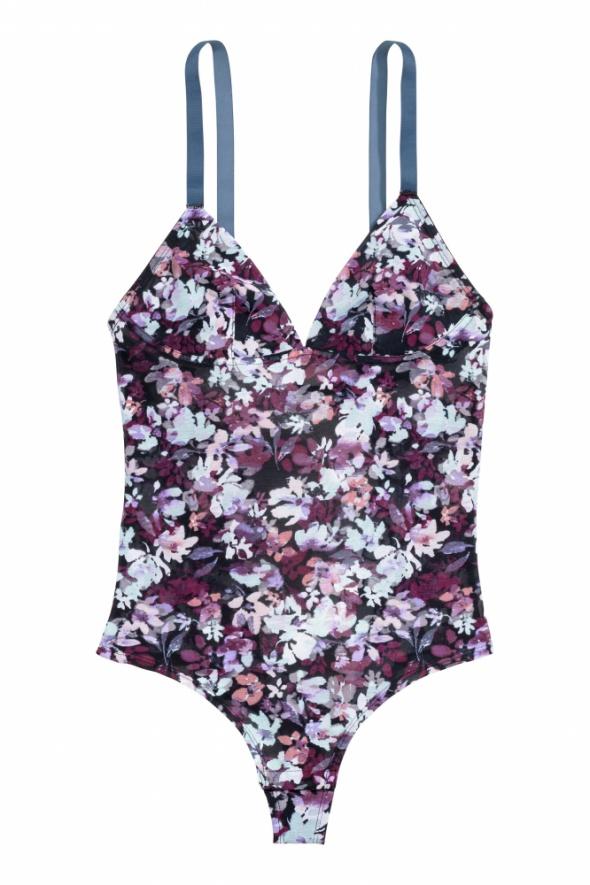 Body H&M w kwiaty Nowe S M seksowne siateczka...