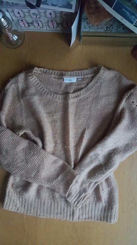 Sliczny cieply Sweter new look bezowy s m
