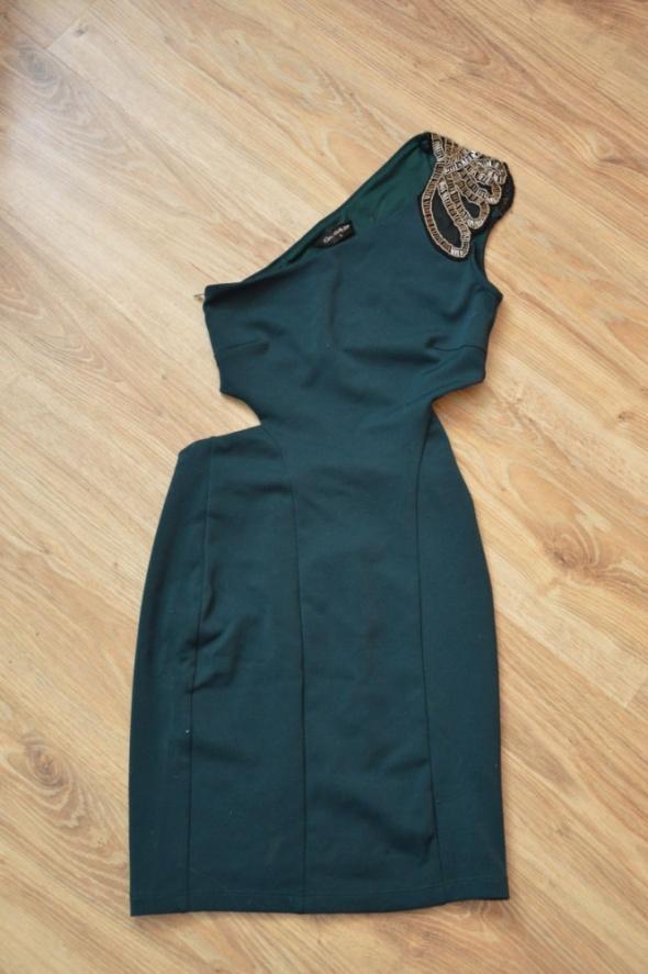 sukienka zielona XXS XS