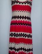 Maxi czerwona sukienka we wzory Jane Astin