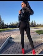Extra legginsy push up czarne...