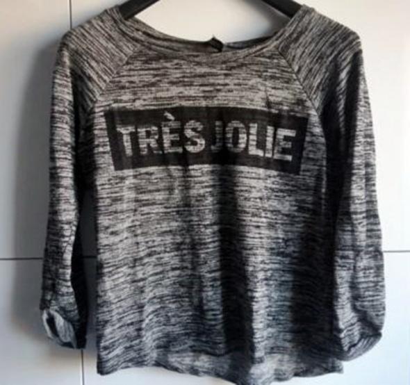 Bluzka bluza sweterkowa asymetryczna H&M...