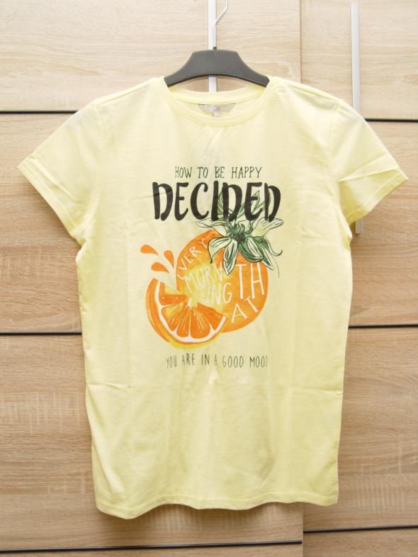 Nowa koszulka z nadrukiem pomarańczą Rozmiar M C&A
