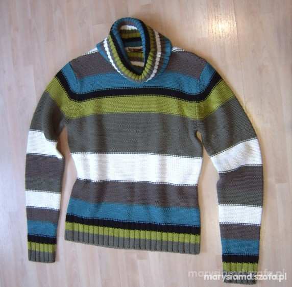 Carry sweter w paski S M...