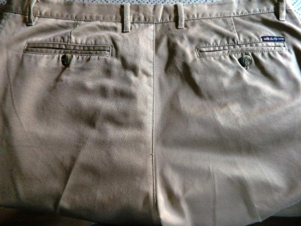 Beżowe spodnie męskie bawełna XL...