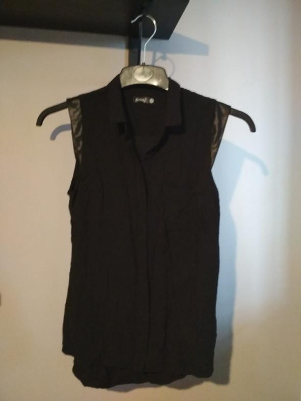 Koszula bezrękawnik czarna sinsay S elegancka...