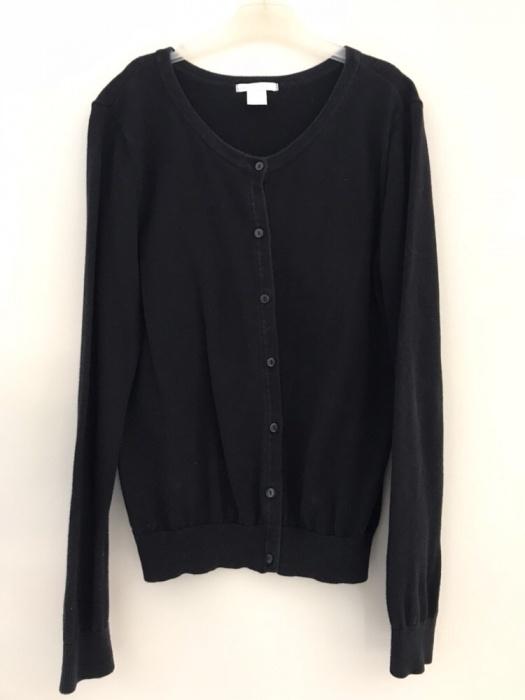 czarny rozpinany kardigan sweter H&M...