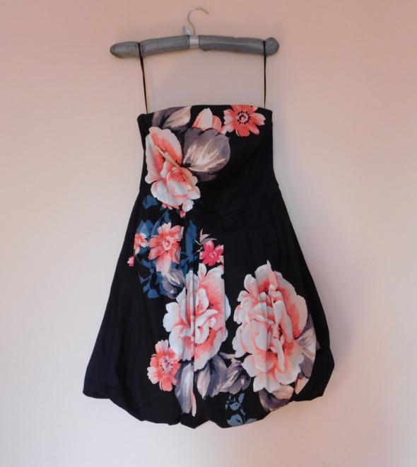 Oasis gorsetowa sukienka w kwiaty 36...