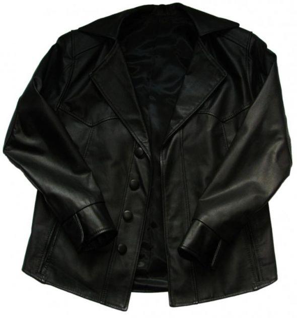 Czarna nowa kurtka koszula S M skóra naturalna