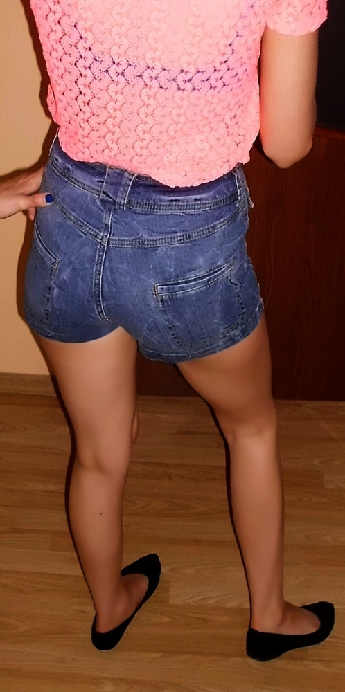 Spodenki Spodenki jeans wysoki stan