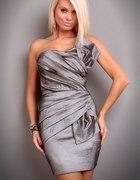śliczna grafitowa sukienka