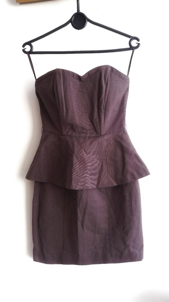 75ac1618cf śliwkowa sukienka xs z baskinka hm w Suknie i sukienki - Szafa.pl