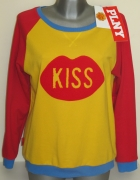 PLNY LALA bluza Kiss Raglan Red Yellow Sweatshirt...