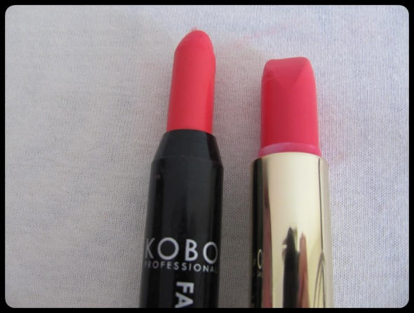 Pomadka KOBO Fashion fresh pink i Golden Rose szminka