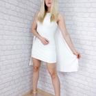 asos sukienka z peleryną ecru
