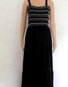 Letnia czarna sukienka maxi na ramiączkach r 3XL...