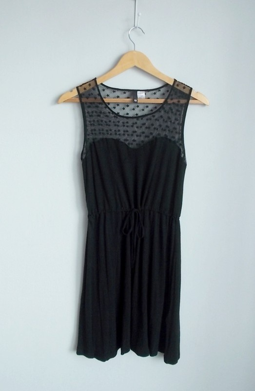 H&M sukienka czarna z siateczką