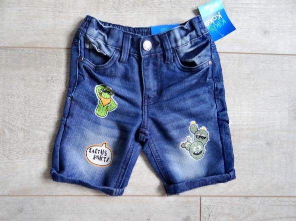 Jeansowe krótkie spodenki matka nowe 98