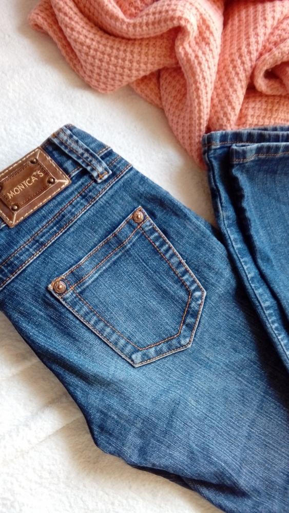 Śliczne jeansy piękne przeszycia rozmiar 36