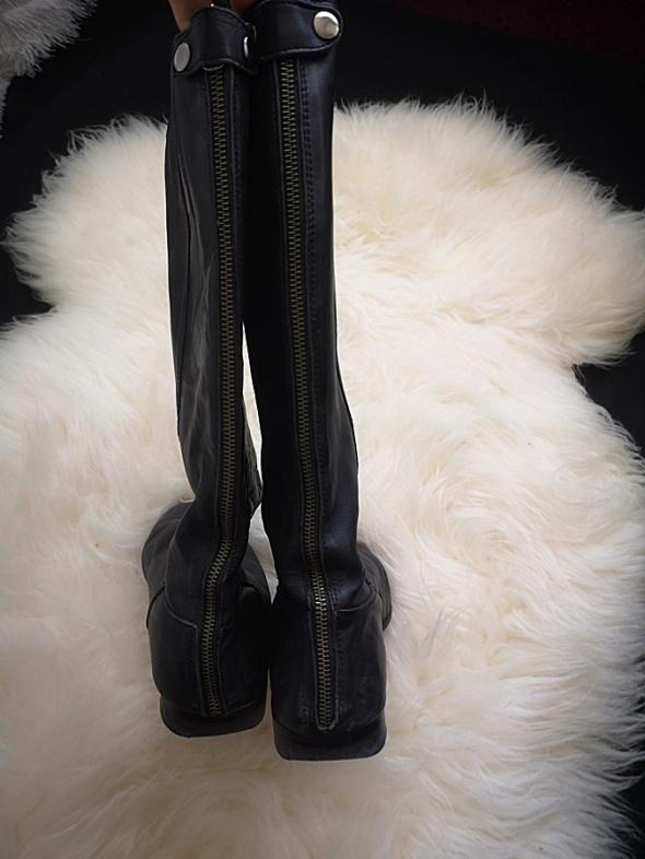 Kozaki zimowe damskie skóra naturalna 40