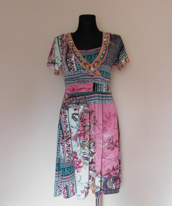 Sweet Miss sukienka midi kolorowa wzory 36 38...