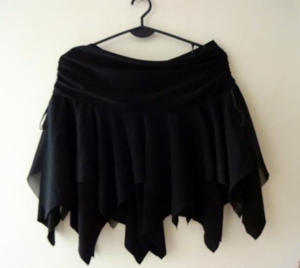 Czarna spódniczka Halloween wiedźma czarownica strzępiona goth...