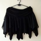 Czarna spódniczka Halloween wiedźma czarownica strzępiona goth