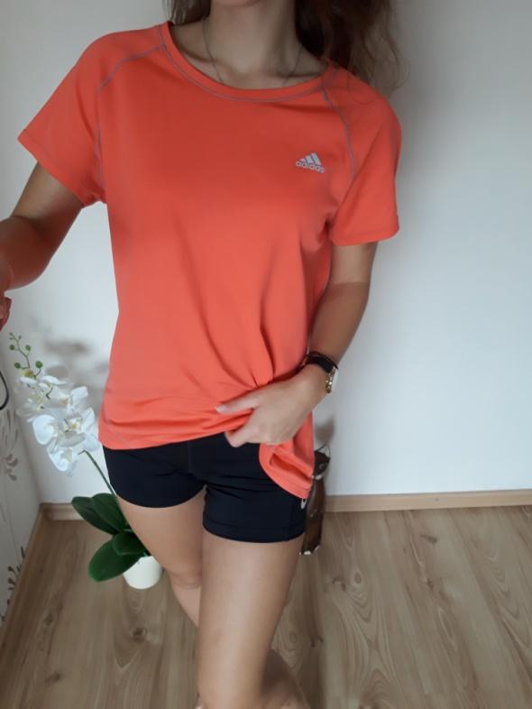 sportowa bluzka pomarańczowa adidas tshirt L M...