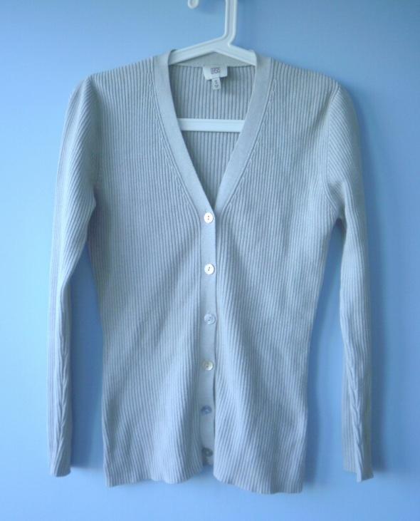 Oasis szary stalowy sweter kardigan minimal...