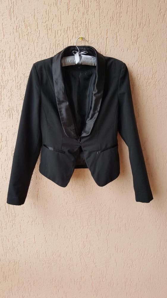 Czarny żakiet frak marynarka czarna klapy New Look