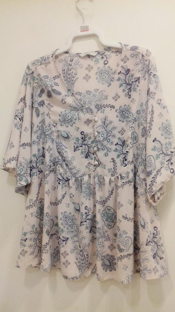 bluzka George 46 pastelowa w kwiaty