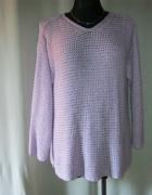 pastelowy wrzos bluzka sweter...