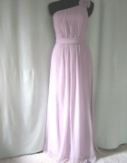 długa suknia pudrowy róż 34 36