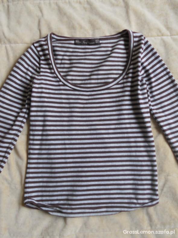 ZARA TRF Knitwear bluzka w paski