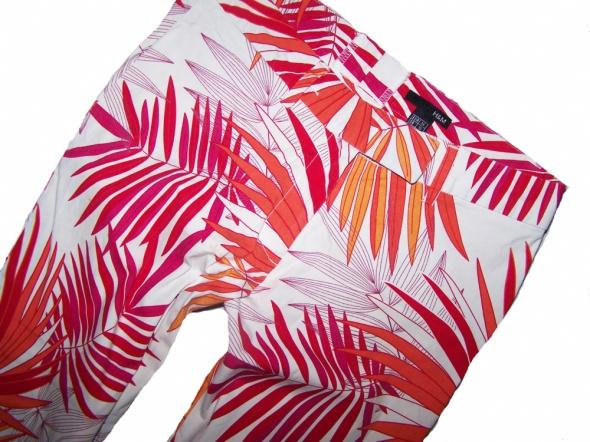 H&M spodnie rybaczki wzór liści palmowych 36...