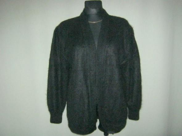czarny sweter wełniany na podszewce L...